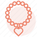 heart, love, necklace, ring, romance, valentines, wedding icon
