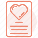 email, heart, letter, love, romance, valentines, wedding icon