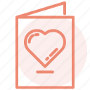 day, heart, invited, love, romance, valentines, wedding icon