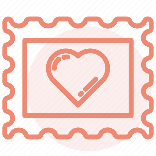 day, heart, love, romance, stamps, valentines, wedding icon