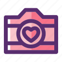camera, love, photography, valentine, valentine day, wedding, wedding photography icon