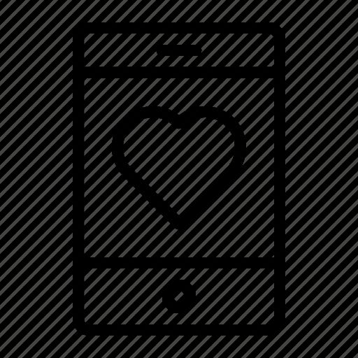 heart, like, love, mobile, smartphone icon