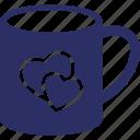 heart on tea, hot tea, loving tea, tea, tea cup icon