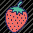 berry, healthy food, raw food, splash, strawberry icon