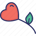 blooming, blossom, daisy, flower, heart flower icon