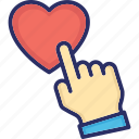 favorite sign, heart shape, heart sign, likes, touch heart icon