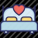 bed, bedroom, loving room, rest, sleeping icon