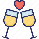 alcohol, beverage, drink, wine, wine glass icon