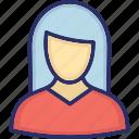 customer representative, female, teacher lover icon