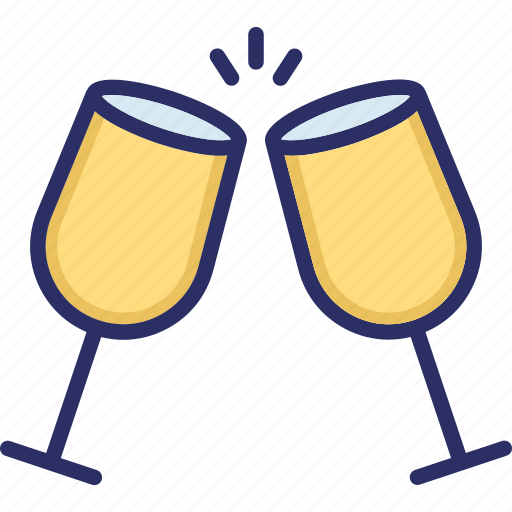 alcohol, champagne, glass, toasting, wine glass icon
