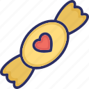 candy, halloween candy, heart candy, sweets, toffee icon