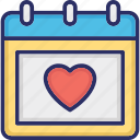 dating, heart calendar, love inspiration, wedding anniversary, wedding day icon