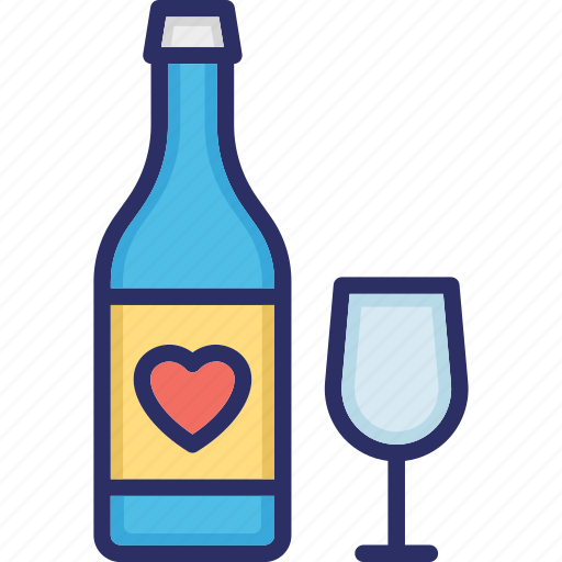 alcohol, bottle, champagne, drink bottle, wine icon