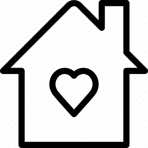 heart, home, house, love, romance icon