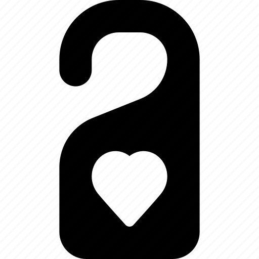 disturb, dont, hanger, heart, sign icon
