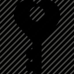 heart, key, lock, love, romantic icon