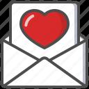 celebration, heart, letter, love, message, saint valentine, valentine's day icon
