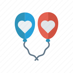 balloon, celebration, decoration, party icon