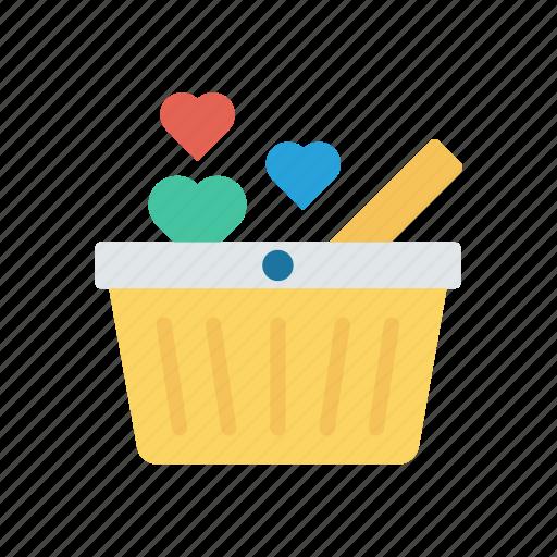 basket, cart, food, trolley icon