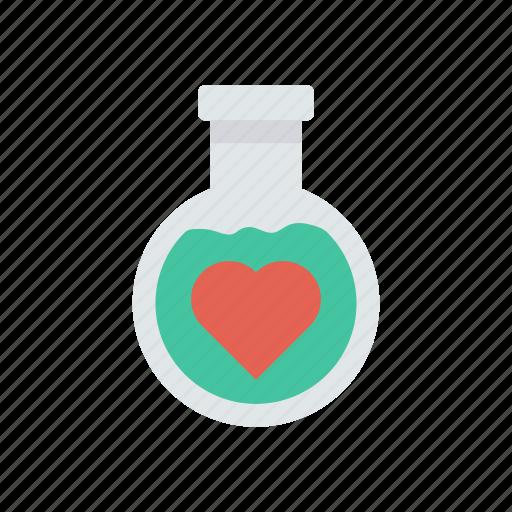 beaker, heart, lab, love icon