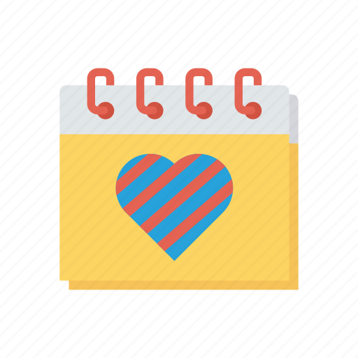 calendar, event, heart, schedule icon