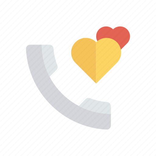 call, heart, love, talk icon