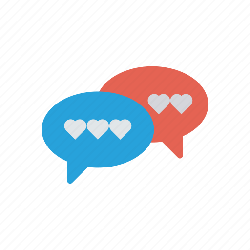 chat, conversation, love, message icon