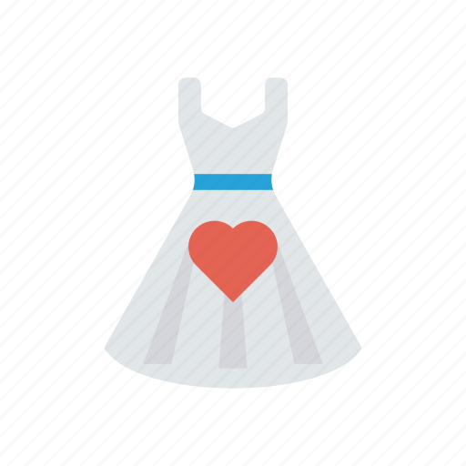 cloth, dress, love, party icon