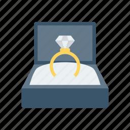 engagement, jewel, love, ring icon