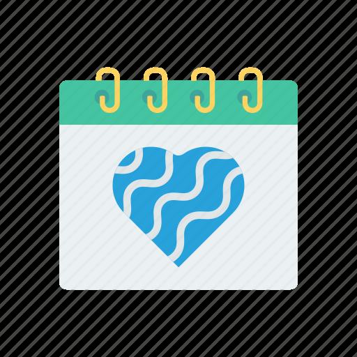 calendar, date, event, heart icon