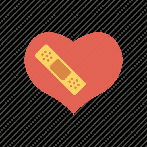 broken, damage, favorite, heart icon
