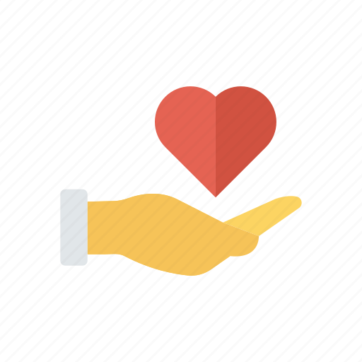 favorite, hand, love, romance icon