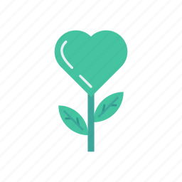 flower, love, nature, proposal icon