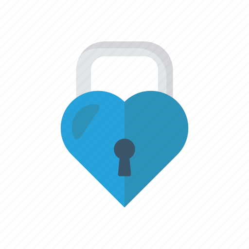 heart, lock, protect, secure icon
