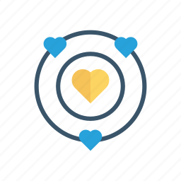 heart, love, planet, universe icon