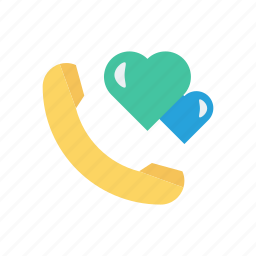 call, favorite, love, talk icon