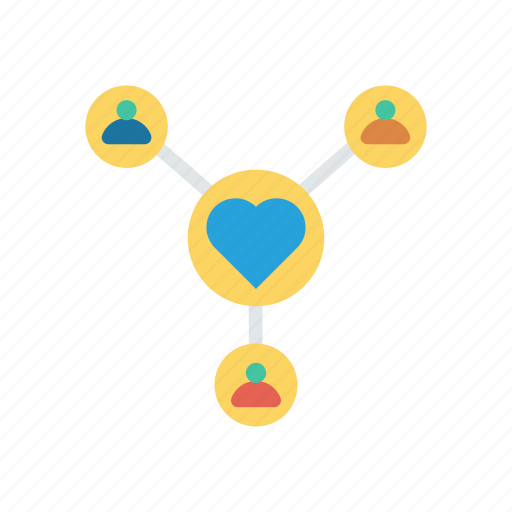 connect, connection, love, network icon