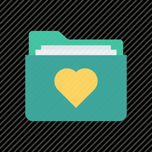 archive, folder, love, romance icon