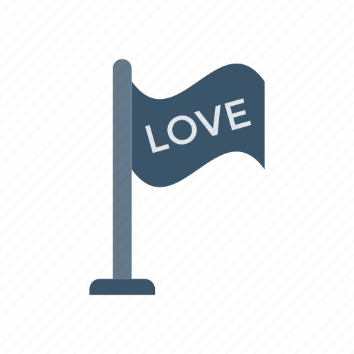 flag, goal, love, target icon