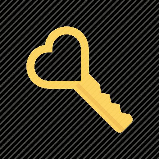 access, key, love, unlock icon