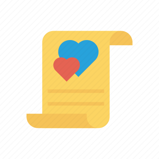 favorite, letter, love, page icon