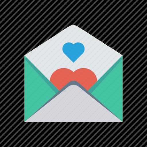 card, invitation, letter, love icon