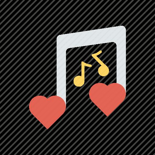 love, music, romance, song icon