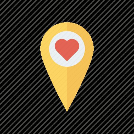 heart, location, love, pin icon