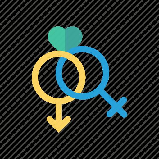 female, love, male, romance icon