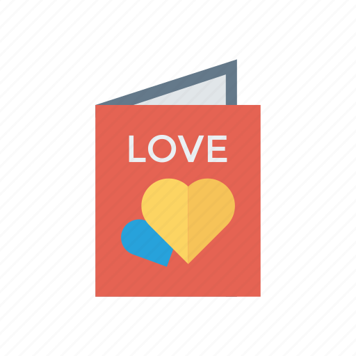 flyer, love, menu, romantic icon