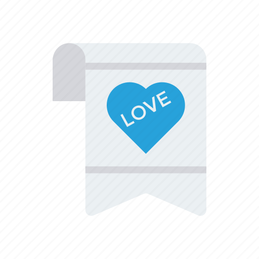 document, letter, love, page icon
