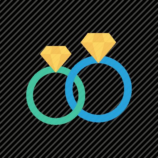 diamond, engagement, jewel, ring icon