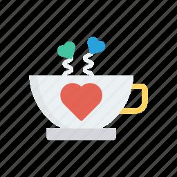 coffee, cup, love, tea icon