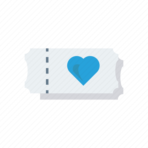 cinema, love, romance, ticket icon